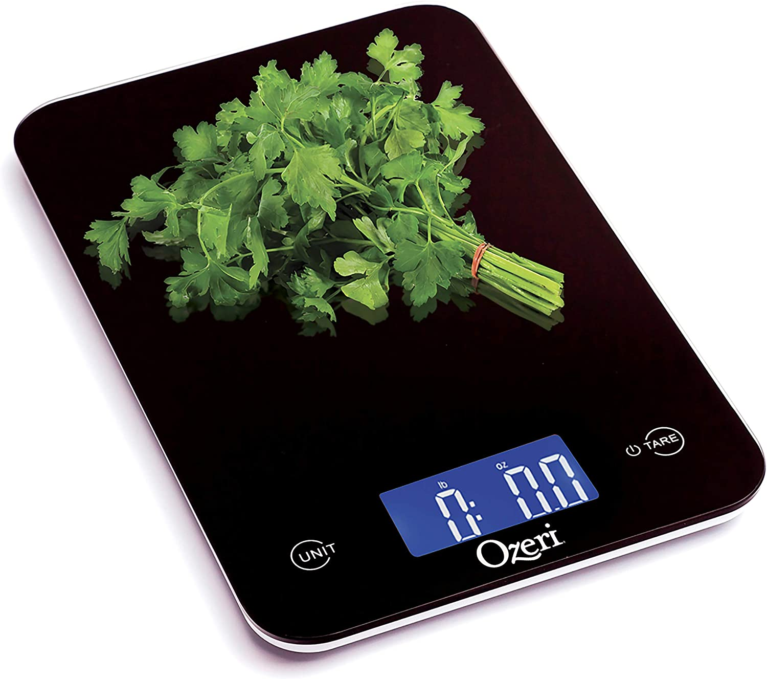 Ozeri Touch Professional Digital Kitchen Scale (12 lbs Edition), Tempered Glass in Elegant Black Black
