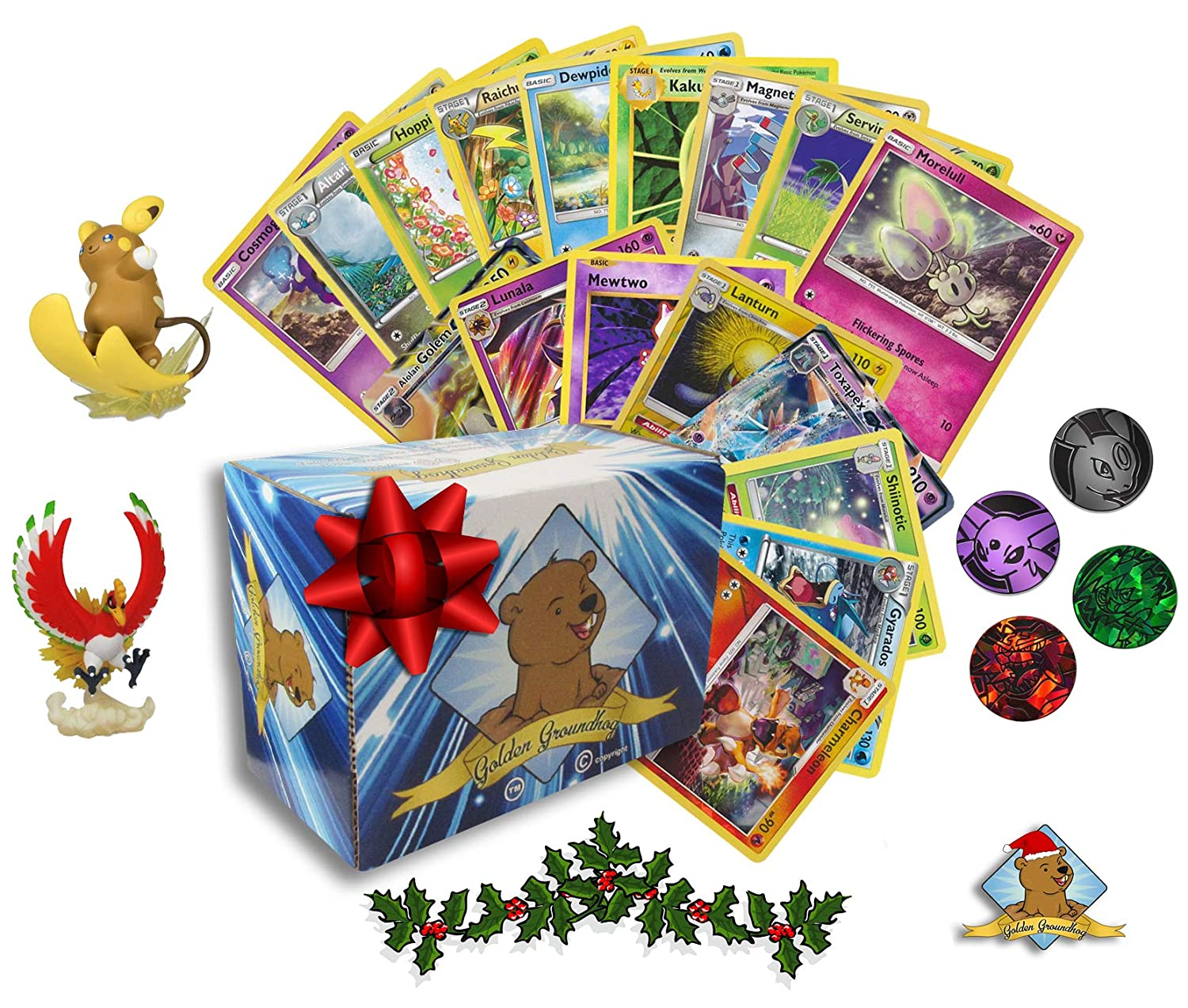 Pokemon Christmas.Amazon Com Pokemon Christmas Bundle Box Lot Pokemon Cards