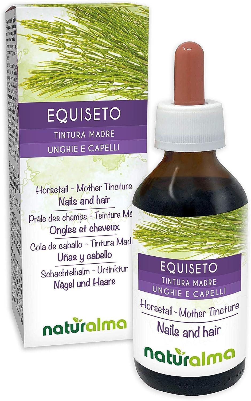 Cola de caballo (Equisetum arvense) hierba Tintura Madre sin alcohol Naturalma | Extracto líquido gotas 100 ml | Complemento alimenticio | Vegano
