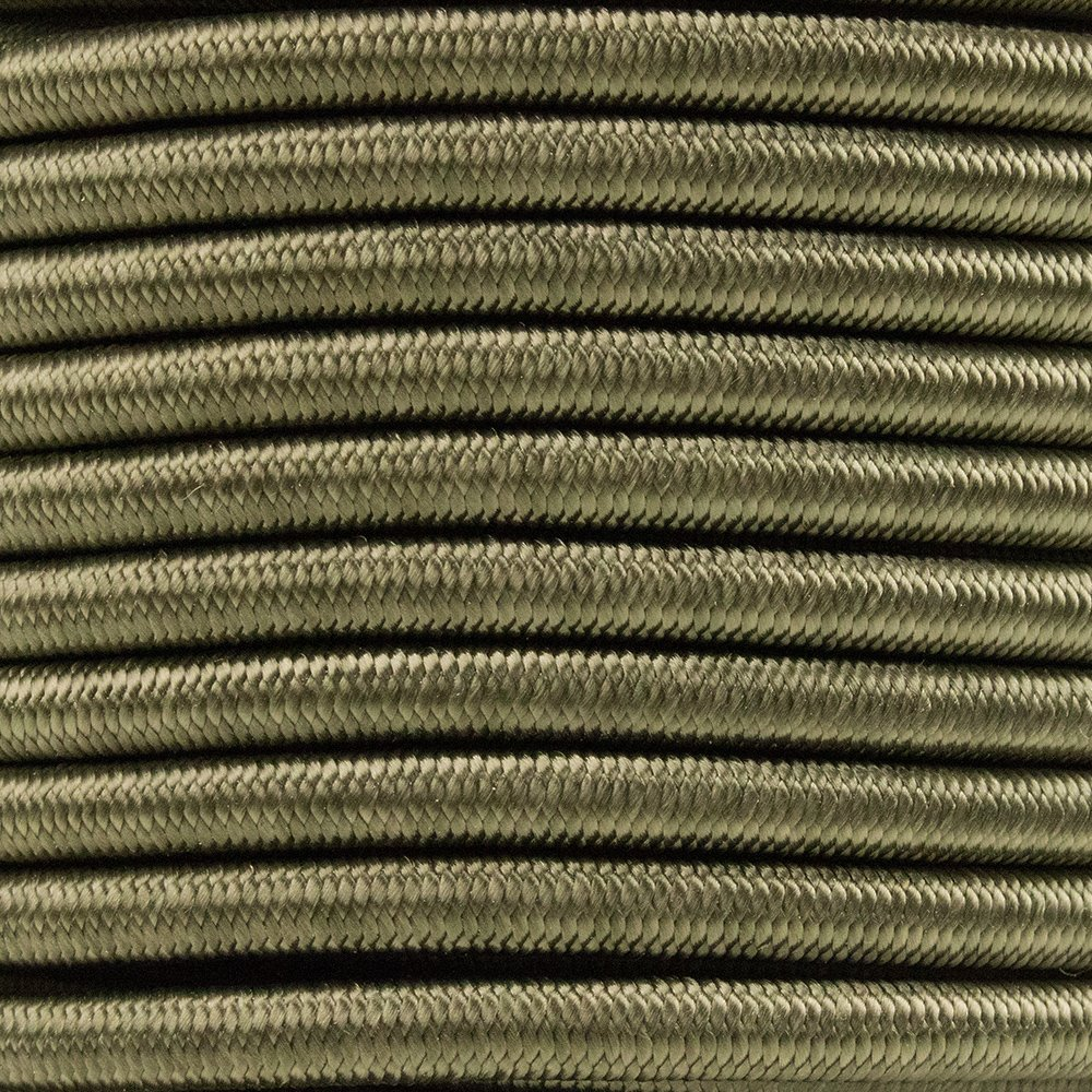 """1//8/"""" 5//8 3//8 PARACORD PLANET Elastic Bungee Nylon Shock Cord 2.5mm 1//32 1//4 1//2 inch Crafting Stretch String 10 25 50 /& 100 Foot Lengths Made in USA 3//16 5//16 1//16"""
