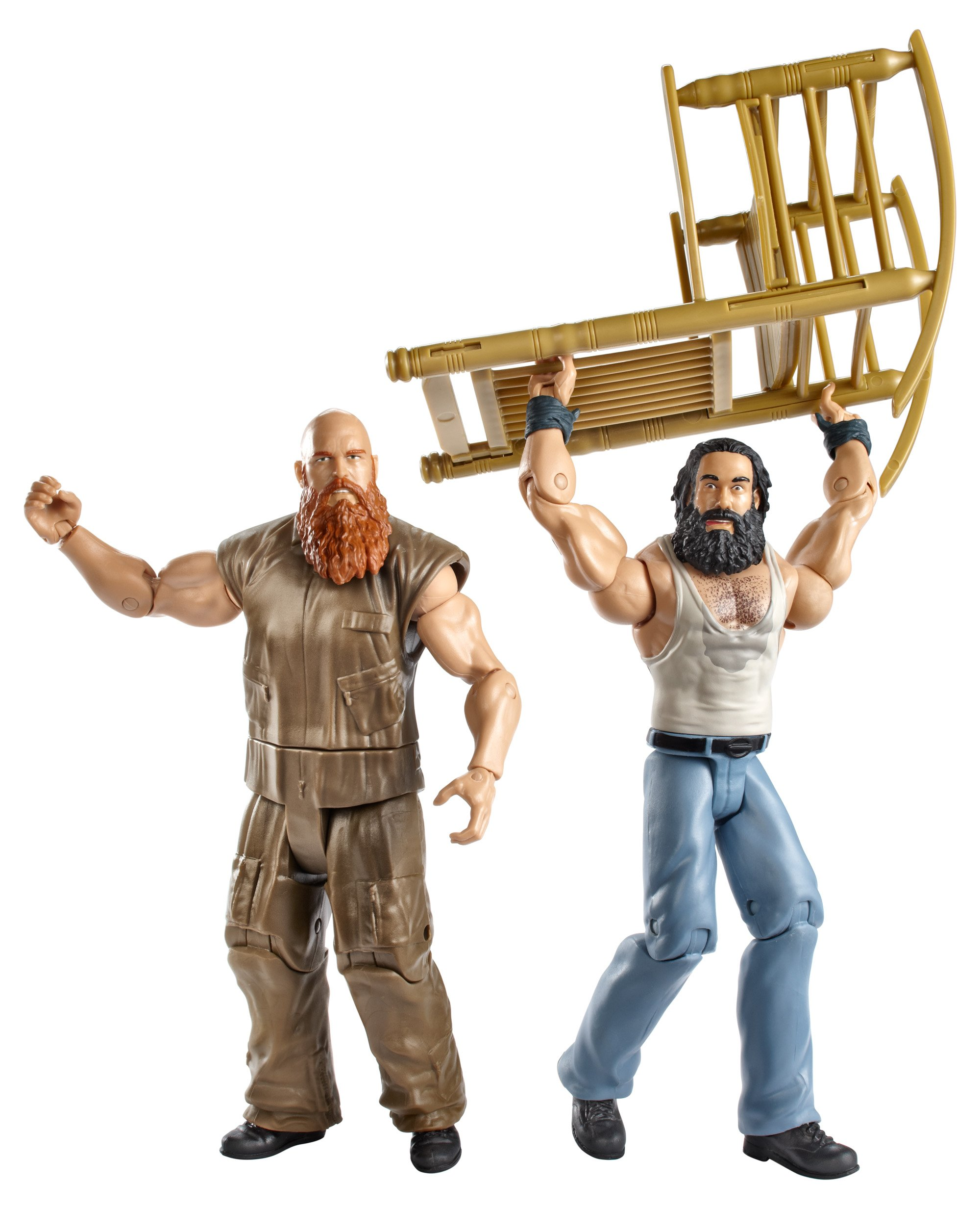 WWE Series #28 Luke Harper and Erick Rowan Figure with Rocking Chair (2-Pack) by WWE