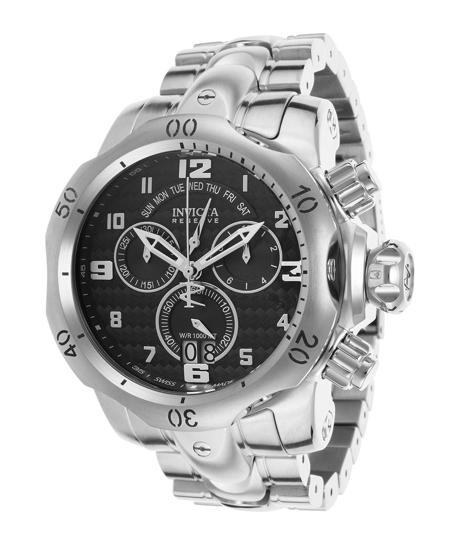 Amazon.com: Invicta Venom Chronograph Black Dial Stainless Steel Mens Watch 17630: Invicta: Watches