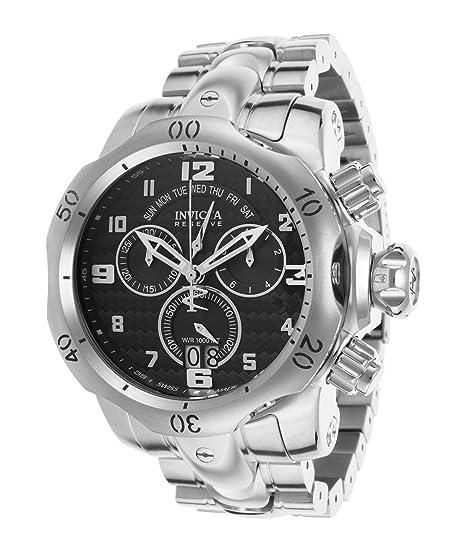 Invicta Venom Cronógrafo Negro Dial Acero inoxidable Acero Mens Reloj 17630: Invicta: Amazon.es: Relojes