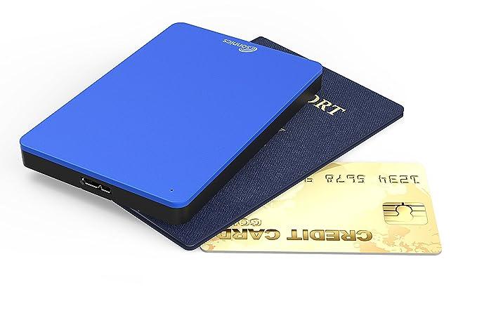 Sonnics 500GB Azul Disco duro externo portátil de Velocidad de transferencia ultrarrápida USB 3.0 para PC Windows, Apple Mac, Smart TV, XBOX ONE y PS4: ...