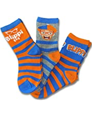 Blippi Official Children's Socks Size Small 2T-4T 3-Pack