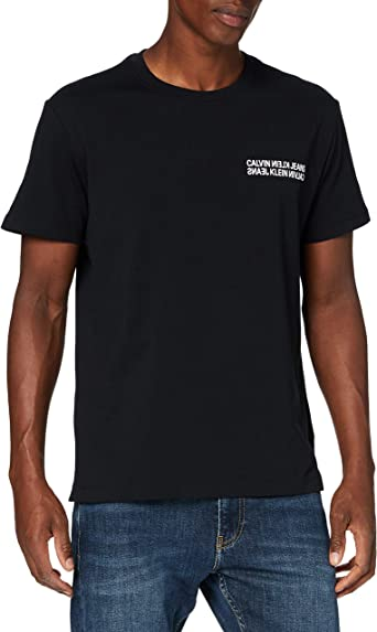 Calvin Klein Monogram CK Square Back Reg tee Camiseta para Hombre: Amazon.es: Ropa y accesorios