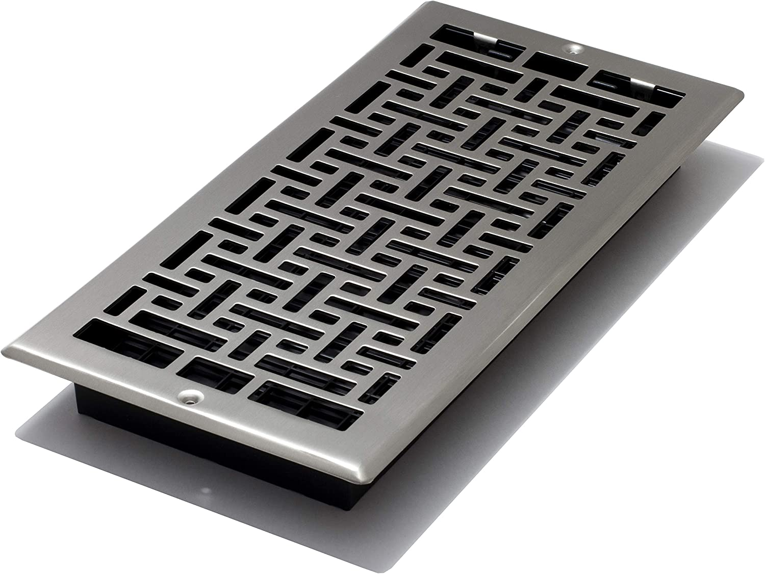 Decor Grates AJL614W-NKL Oriental Wall Register, 6-Inch by 14-Inch, Nickel