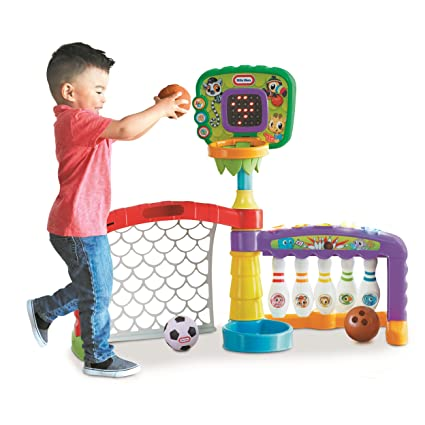 Amazon.com: Little Tikes 3-in-1 Sports Zone Baby Toy, Infant Toy ...