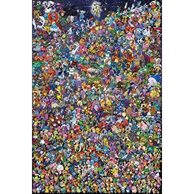Pokemon Puzzles, Wooden Puzzles 1000 Pieces,Pokemon, Photo of The Elf, Adult Creative Gift Decompression Jigsaw Puzzles Cartoon Educational Toys for Children of Students: Toys & Games