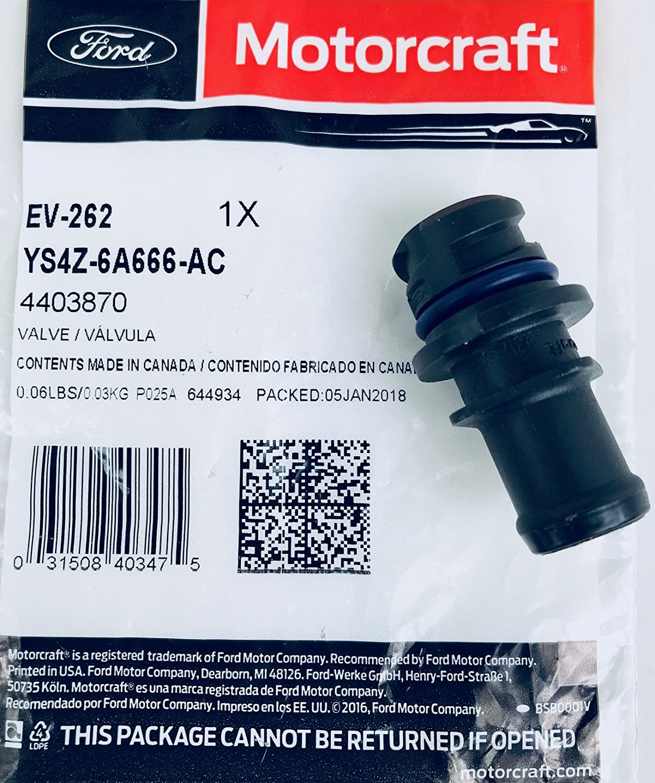 Motorcraft Ev262 Positive Crankcase Ventilation Valve 2002 2 0 Zetec Engine Diagram Automotive