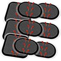 9 Pieces Electrodes Pads, Updated Electrodes Body Pads Gel Adhesive, Compatible with Abs Belt