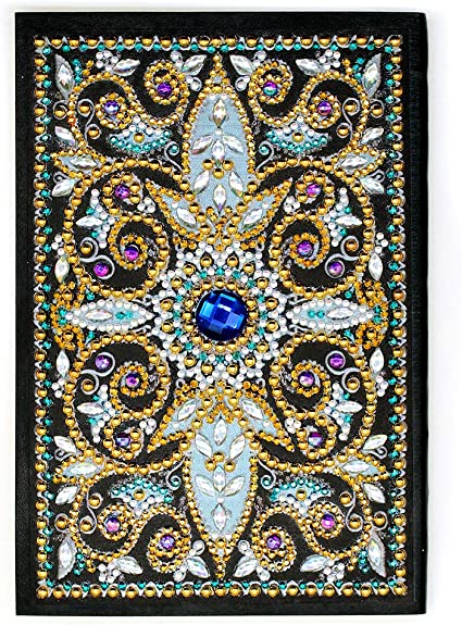 Notebook with Diamond Painting Cover Diary Book DIY Journal Book DIY Special Shaped Diamond Painting Colorful 50 Pages A5 Drawing Notebook