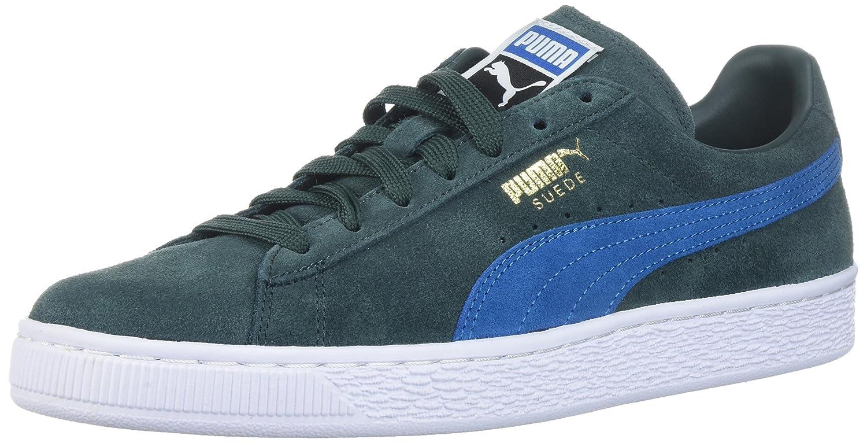 Puma Unisex-Erwachsene Suede Classic + 1 Sneaker, Black-Black, Schuhgrouml;szlig;e  41 EU|Verde (Green Gables-mykonos Blue)
