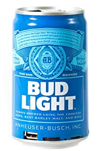Bud Light Bluetooth Can Speaker- Wireless Audio Sound Stereo Beer Can, Bluetooth BudLight Music Player Portable Travel Stereo Speaker. Official Bud Light Universal Speaker for all Devices - Blue Bud