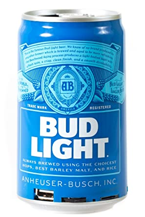 Bud Light Bluetooth Can Speaker- Wireless Audio Sound Stereo Beer Can,  Bluetooth BudLight Music Player Portable Travel Stereo Speaker  Official  Bud