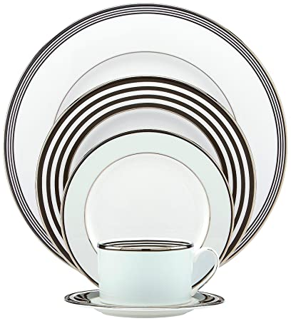 kate spade new york Parker Place 5-piece Dinnerware Place Setting  sc 1 st  Amazon.com & Amazon.com | kate spade new york Parker Place 5-piece Dinnerware ...