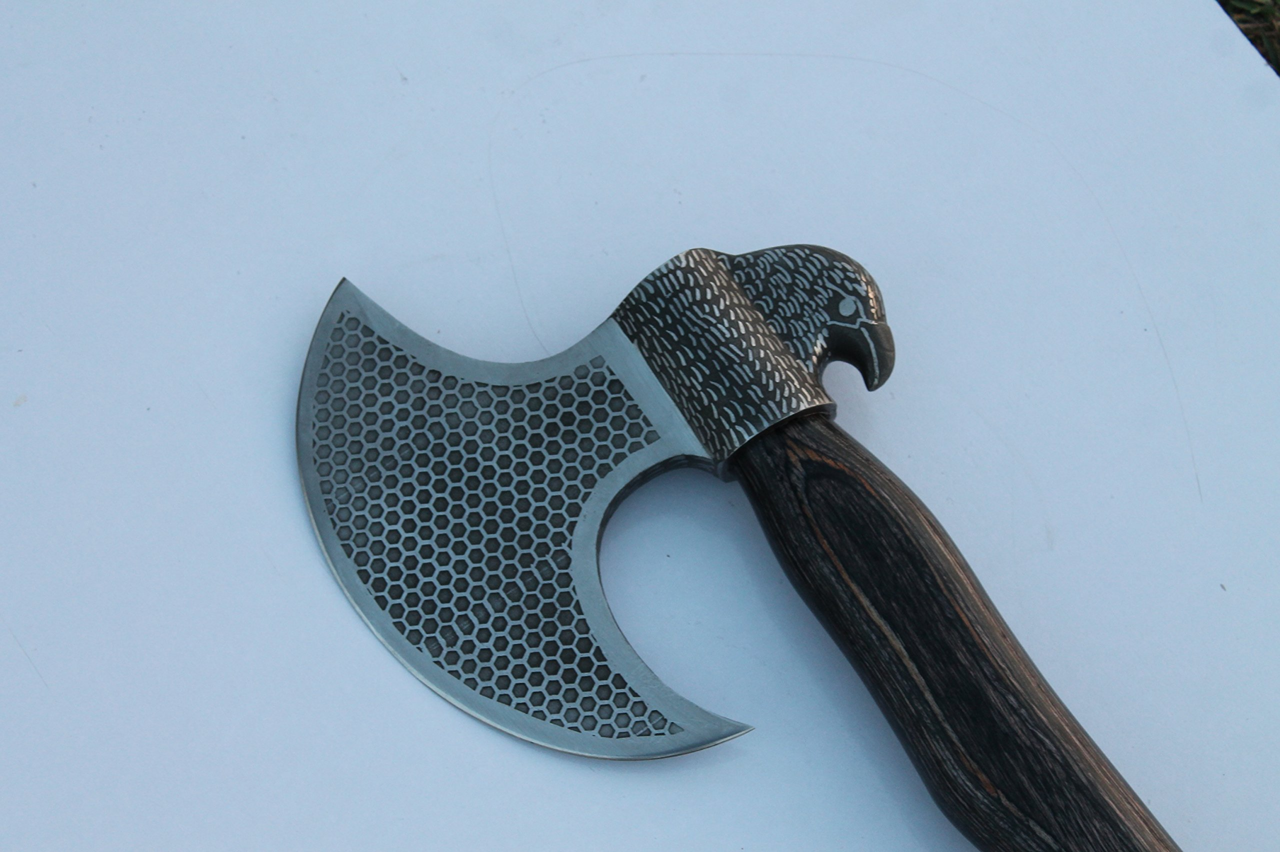 MDM VINTAGE ENGRAVED COMBAT TACTICAL AXE & HATCHETS OUTDOOR HIKING CAMPING AXE X FULLY FUNCTIONA AXE USEABLE FOR HARDWORK by MDM AXEs & HUNTING TOOls (Image #2)