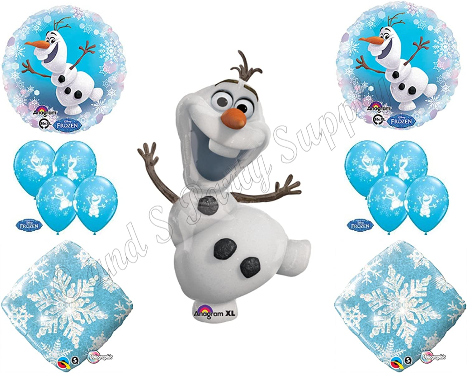 "Disney Frozen Balloon Party Olaf 23/"" One Double Sided Mylar Giant 1"