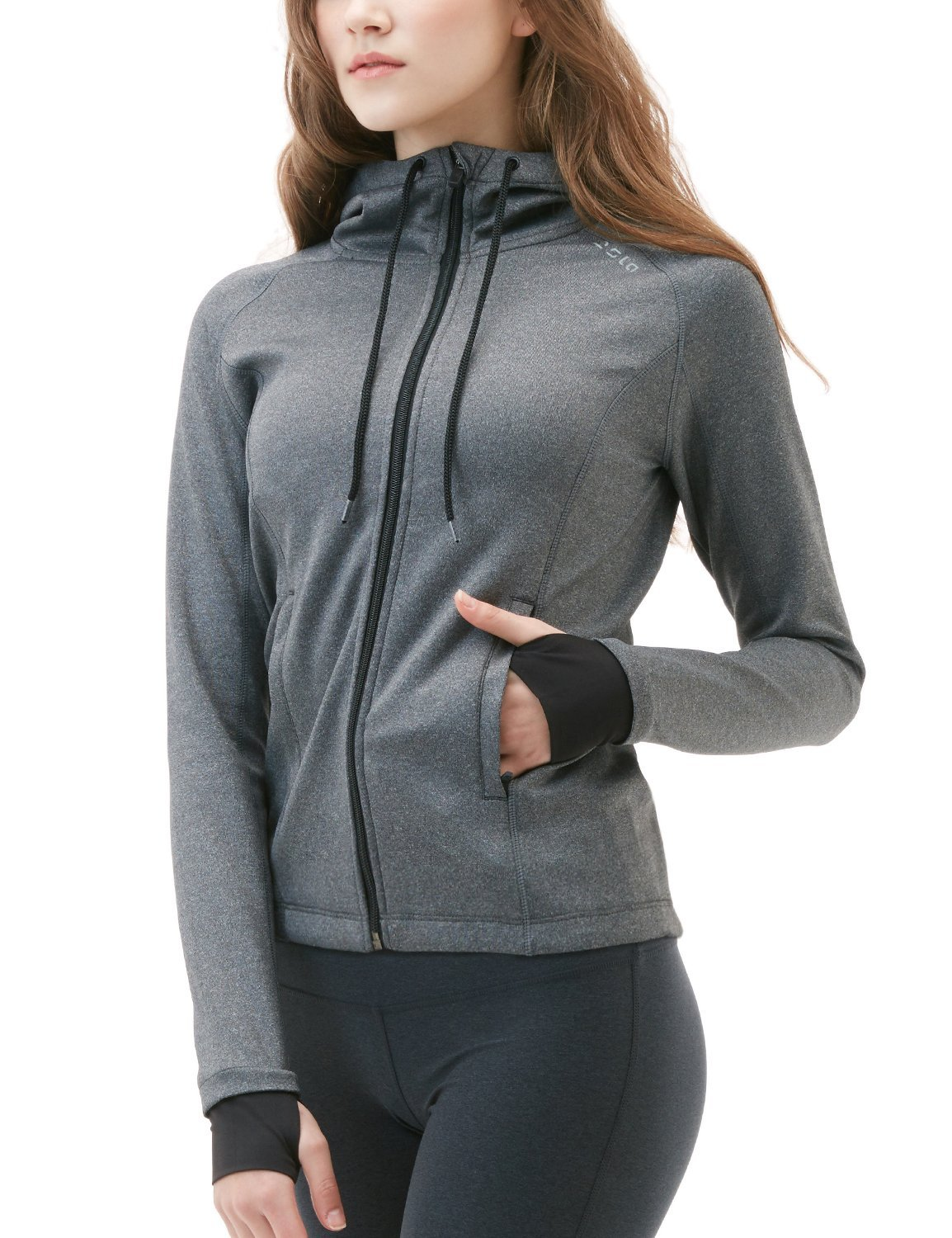 Tesla Women's Lightweight Active Performance Full Zip Hoodie Jacket FKJ04/FKJ02