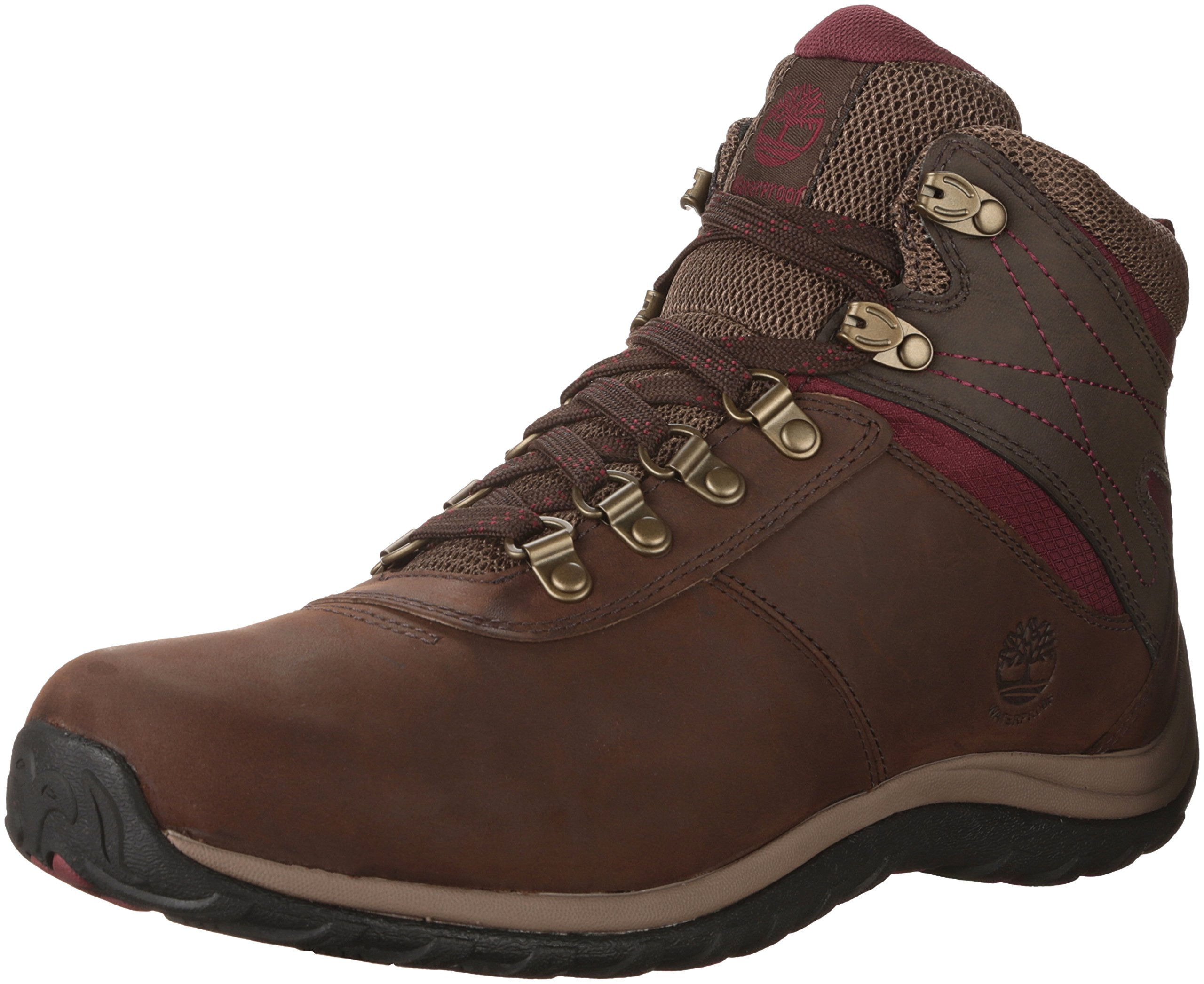 Timberland Women's Norwood Mid Waterproof Hiking Boot, Dark Brown, 8 Medium US by Timberland