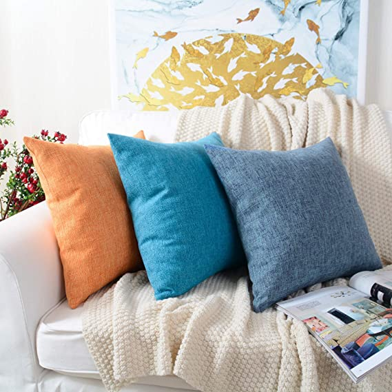 Amazon.com: MerneTTE Funda de almohada decorativa, funda de ...