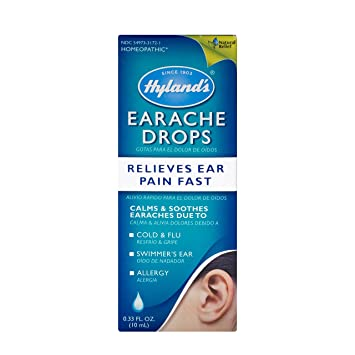 Swimmers Ear Drops for Kids and Adults by Hyland's, Clogged Ears and  Allergy Relief,