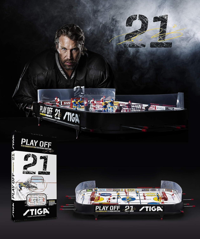 Stiga Play Off 21 Sverige-Canada Icehockey Game Mixte Enfant, Black/White, 96 x 50 cm STIIN|#Stiga 71-1145-05