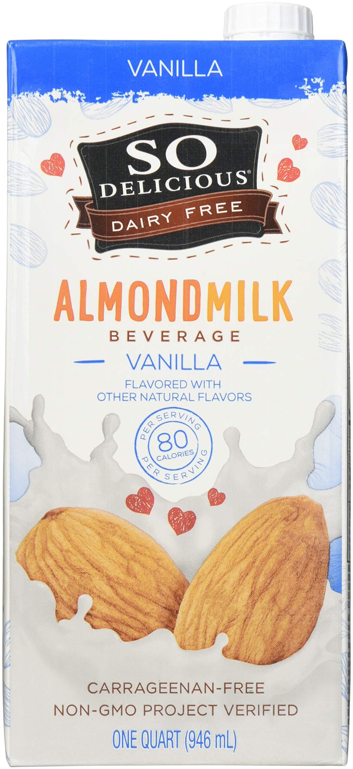 So Delicious, Almond Milk Vanilla Aseptic, 32 Fl Oz