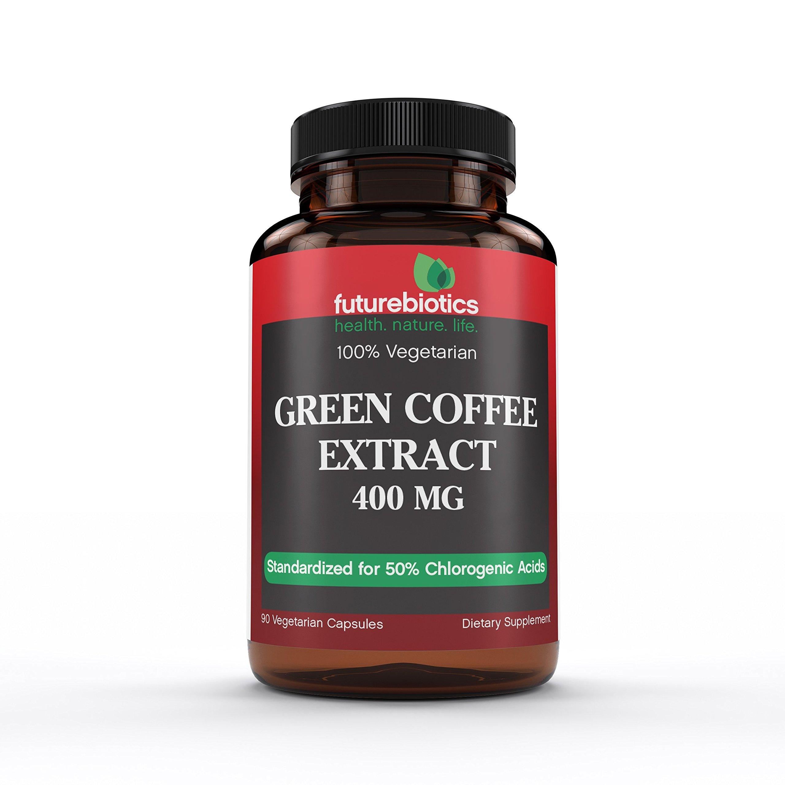Futurebiotics Green Coffee Extract 400mg, 90 Vegetarian Capsules