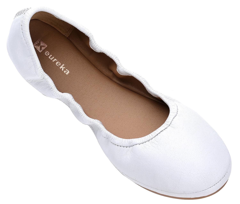 Eureka USA B(M) Women's Audrey Leather Ballet Flat B07BZY4RHT 10 B(M) USA US|202 Cream White e02253