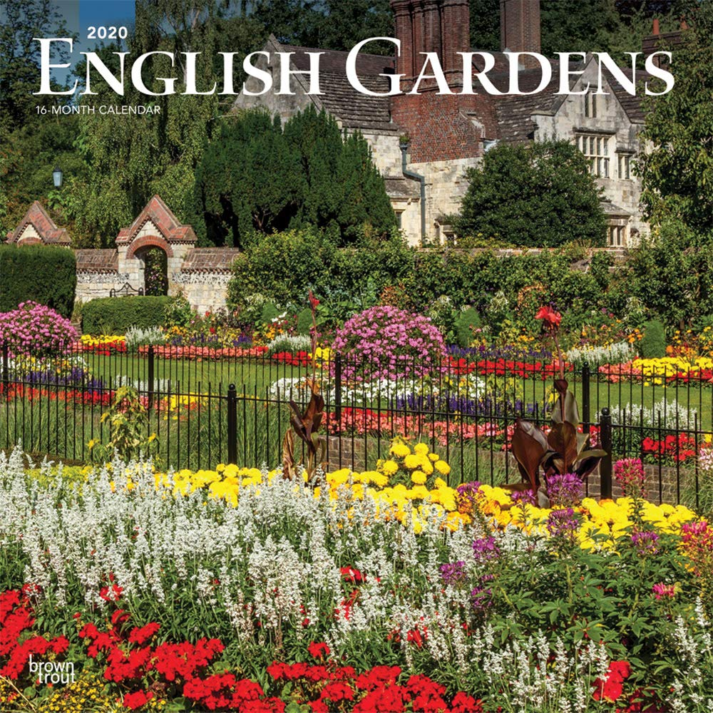 English Gardens 2020 12 X 12 Inch Monthly Square Wall Calendar Uk