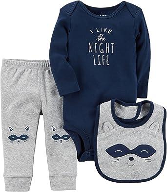f94db0d93 Amazon.com: Carter's Baby Boys' 3 Piece Night Life Set: Clothing
