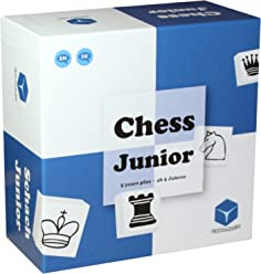 Chess Junior - Chess Set for Kids and Beginners. Teaching Chess Board Game For Children 5 6 7 8 9 Year Olds and Up - With Parent-Child Tutorial (Blue/White)