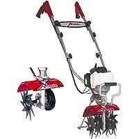 Motobêche thermique Mantis Deluxe - Moteur Honda GX25, 4 fraises à serpentine, réversibles pour binage, largeur de travail 23cm, profondeur de travail jusqu'à 25cm. Poignées ergonomiques - 12kg + dresse-bordure