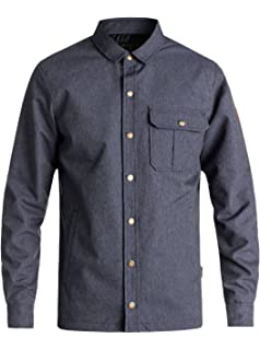 Amazon.com: Quiksilver Mens Tradie Canvas Button Down ...