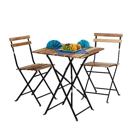 Set Arredamento Da Esterno.Relaxdays 10020682 Set Mobili Da Giardino Per Esterno Da 3 Pezzi