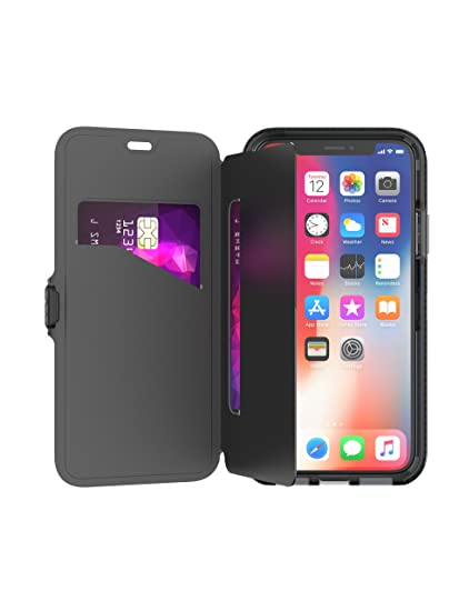 best sneakers c6434 1d610 tech21 - Phone Case Compatible with Apple iPhone X/XS - Evo Wallet - Black
