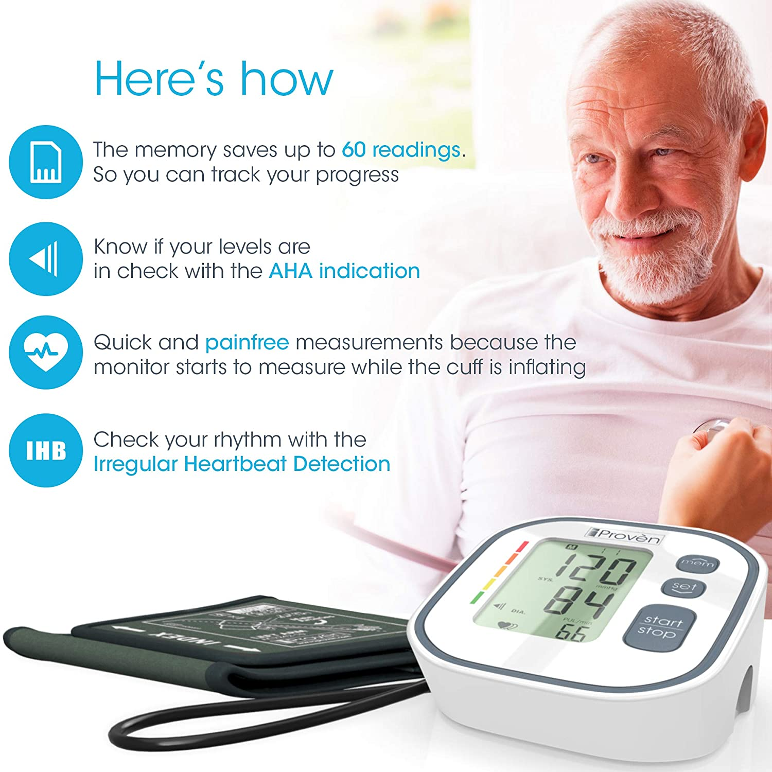 Amazon.com: Blood Pressure Monitor Upper Arm BPM-634 - Automatic BP Machine - Top Rated FDA Approved Electronic BP Monitors - Arterial Home BP Cuff Machines ...