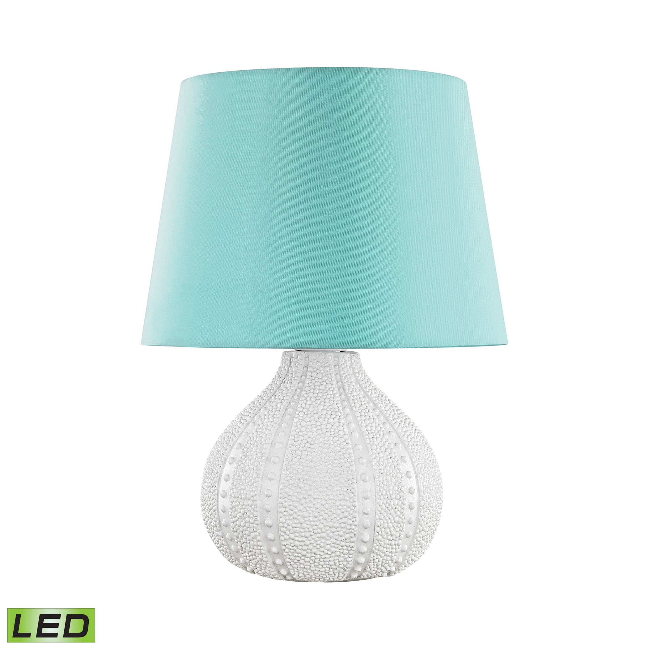 Aruba Outdoor LED Table Lamp With Sea Green Shade by AR Lighting