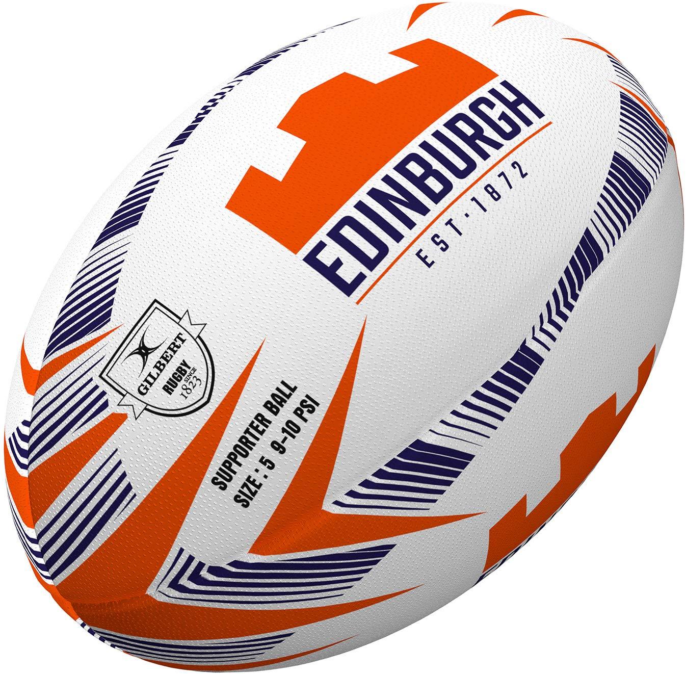 Gilbert Edinburgh Supporters Rugby Ball Size 4-5
