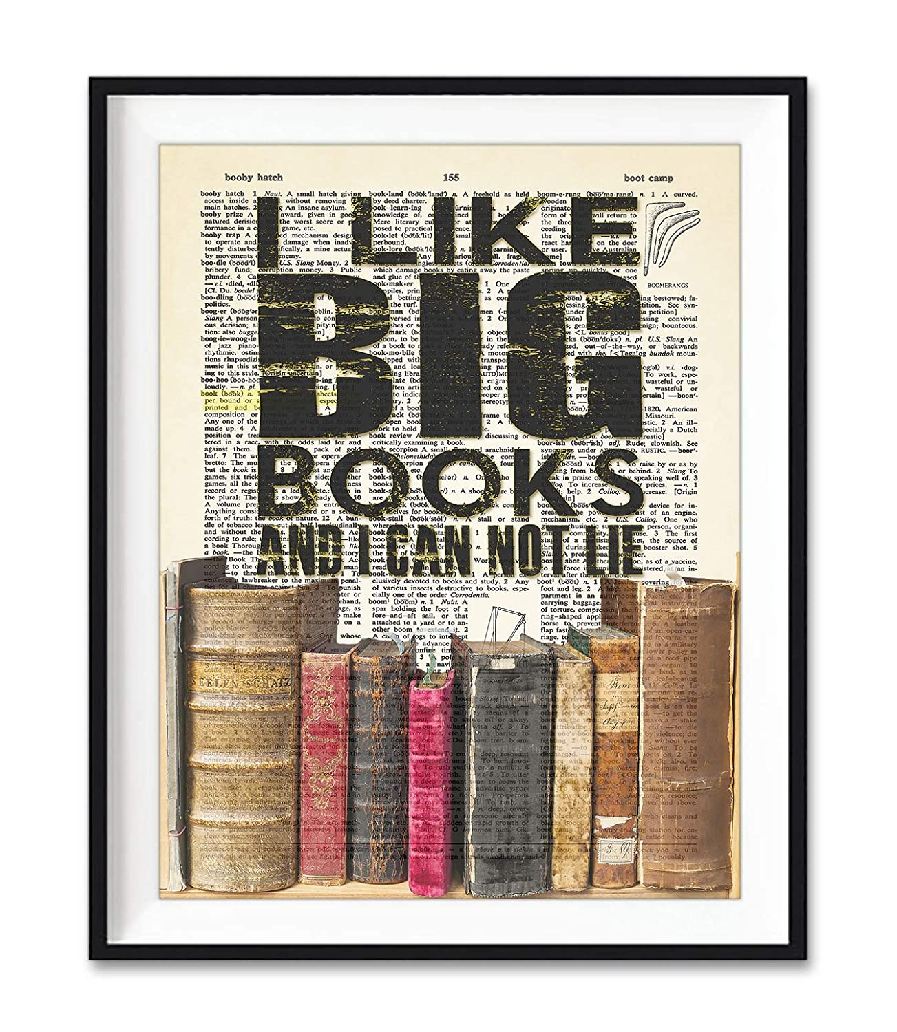 I Like Big Books Art Decor