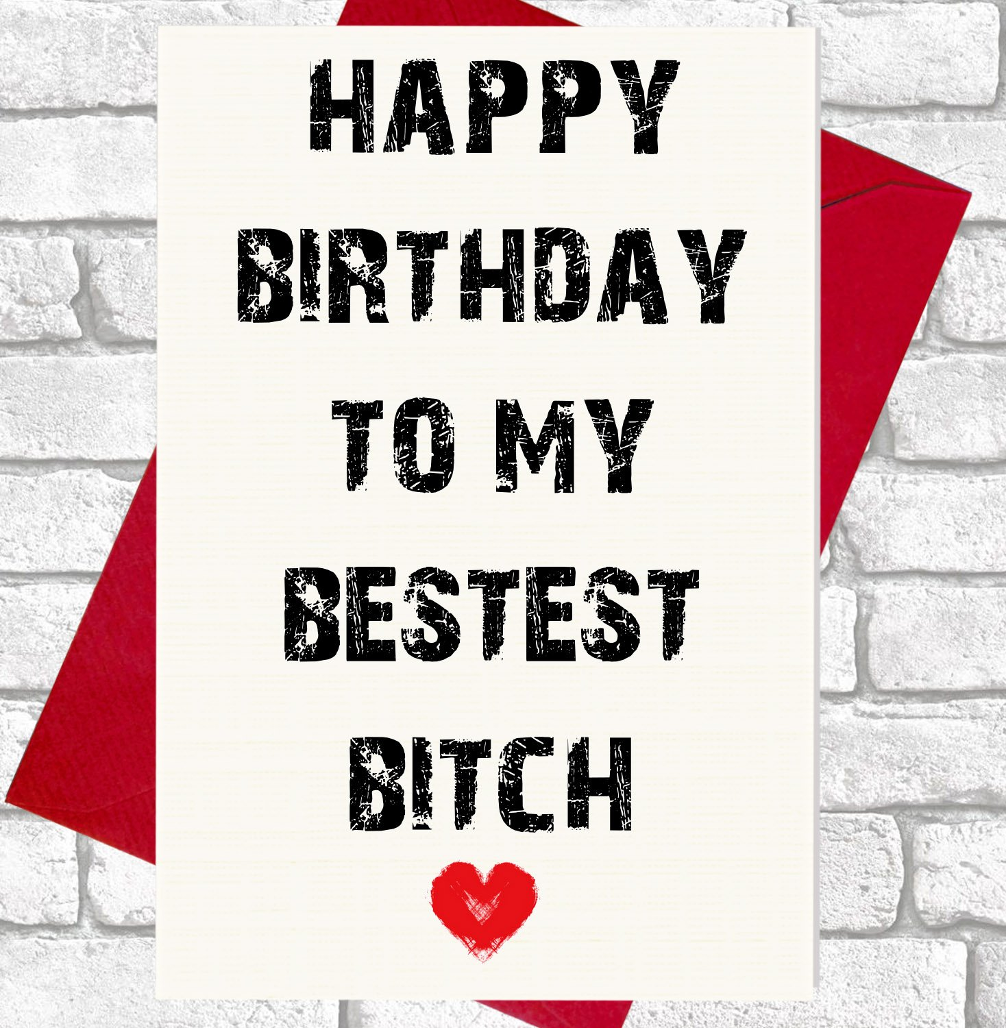 Happy birthday to my bestest bitch funny rude card amazon happy birthday to my bestest bitch funny rude card amazon office products bookmarktalkfo Images