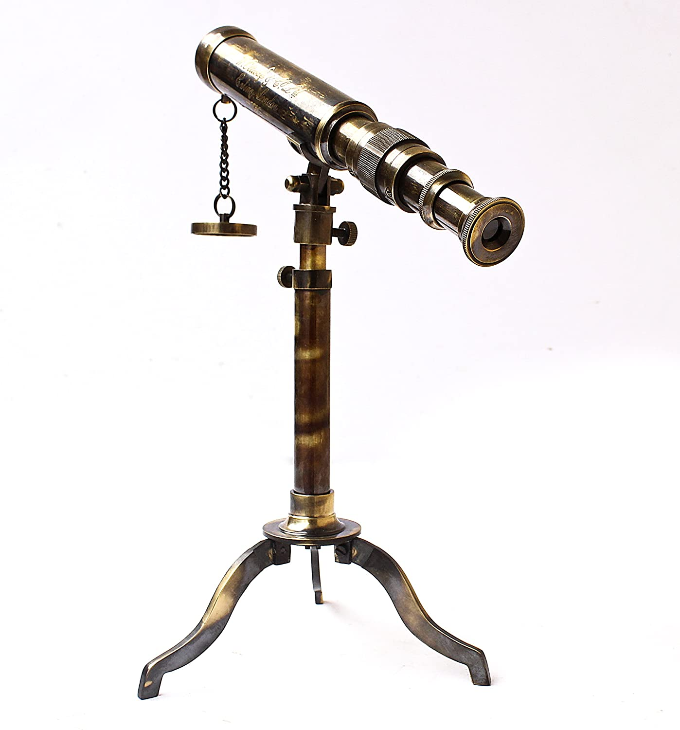 Ottway London 1915 Vintage Stand 10 by 18 inch Brass Antique A Collectibles Buy Nautical Telescope W