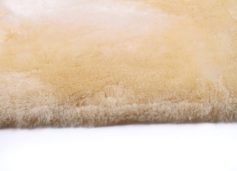 Piel de cordero para bebé (tamaño XXL, piel de oveja curtida, lavable, 110-120 cm)