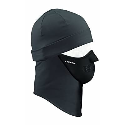 Seirus Innovation 2232 Unisex Dynamax Quick Combo Headliner Skull Cap with Built in Balaclava for Head Face and Neck Protection, One Size