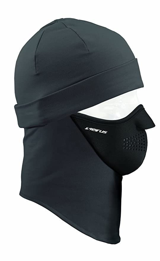 Seirus Innovation 2232 Unisex Dynamax Quick Combo Headliner Skull Cap with  Built in Balaclava for Head