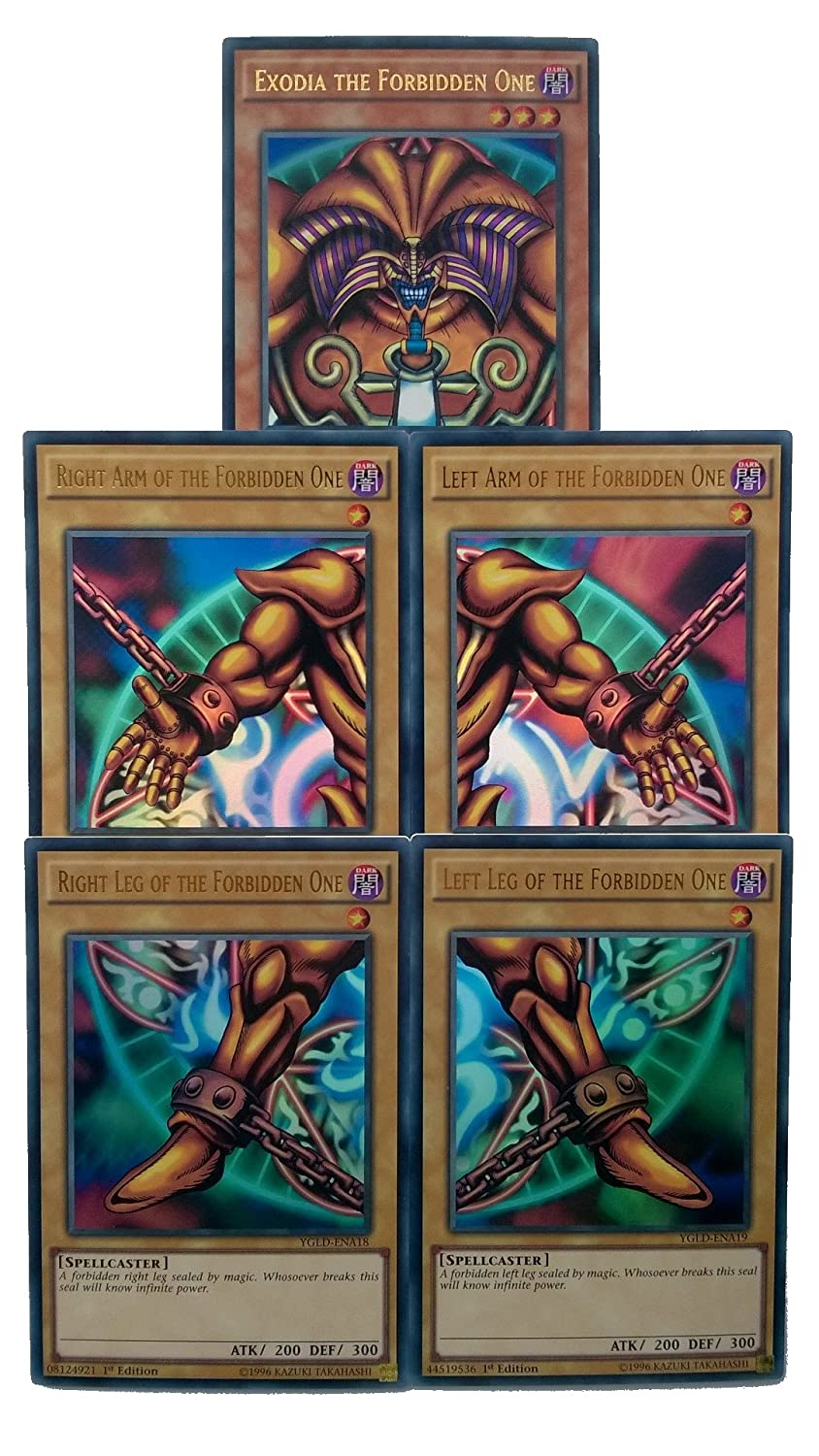 Yu-Gi-Oh! Exodia The Forbidden One - Complete Five Card Set ...