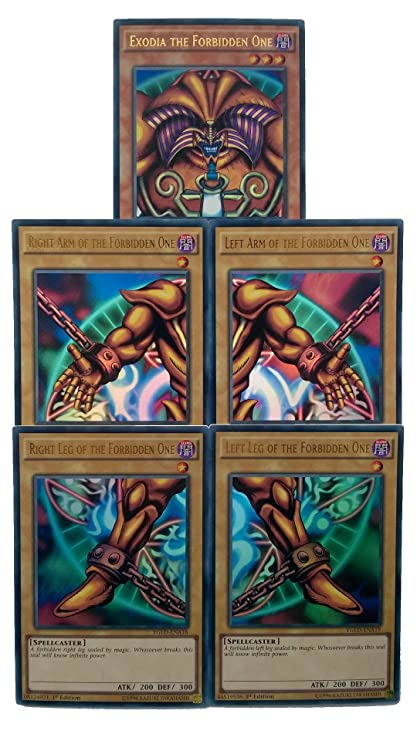 Amazon.com: Konami Yu-Gi-Oh! Exodia The Forbidden One ...
