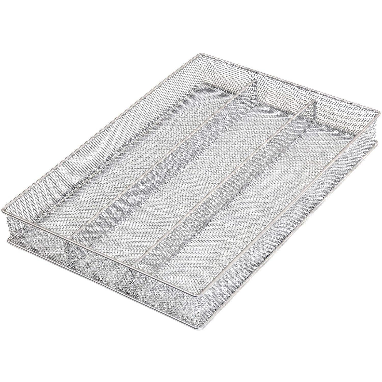YBM HOME Mesh 5-Part in-Drawer Cutlery Organizer Kitchen Utensil Flatware Tray Model #196