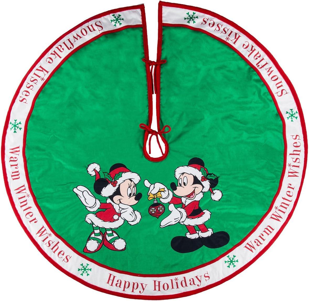 Parques de Disney Mickey y Minnie Mouse Árbol de Holiday falda ...